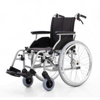 Carucior cu structura din aluminiu cu rotile pentru transport pacienti, cu frana la maner - YJ-AL001A
